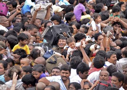 Une foule, en Inde, en 2015.