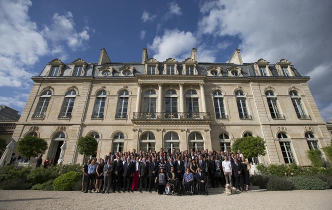 Le palais de l'Elysée, le 14 juillet 2015.