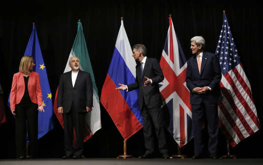 Les négociateurs américain, russe, iranien et européen à Vienne, le 14 juillet.
