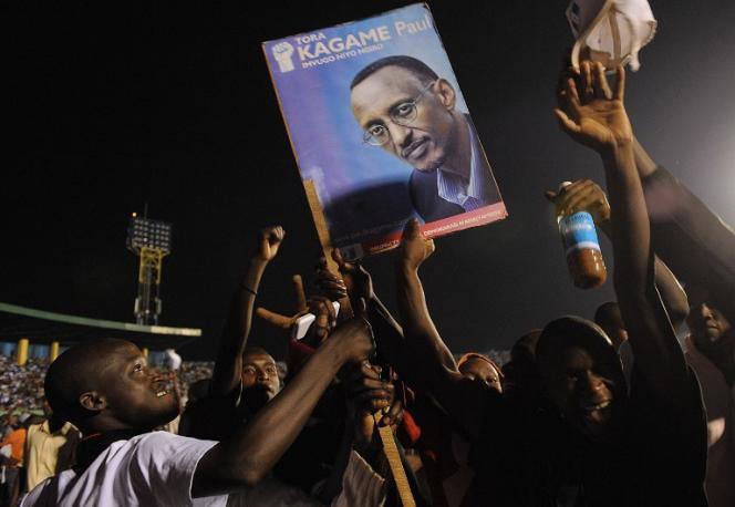 Portrait de Paul Kagamé, au pouvoir au Rwanda depuis 1994.