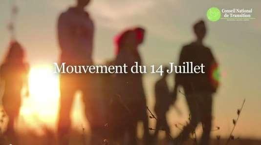 Capture écran d'une vidéo du site Mouvement-14-juillet.fr
