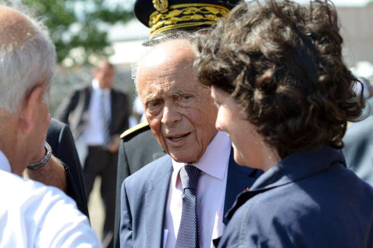 L'ancien premier ministre Michel Rocard, ici en juillet 2015 sur la base aéro-navale d'Aspretto, en Corse.