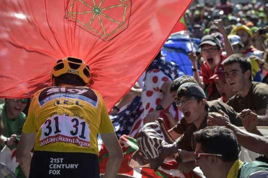 Chris Froome, dans la montée finale de la 10e étape.