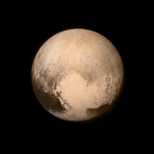 Dernière image de Pluton envoyée le 13 juillet par la sonde New Horizons la veille de son passage au plus près de la planète naine.