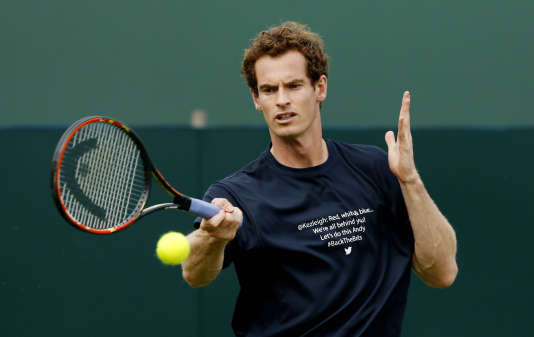 Andy Murray, à l'entraînement le 15 juillet, au Queen's.