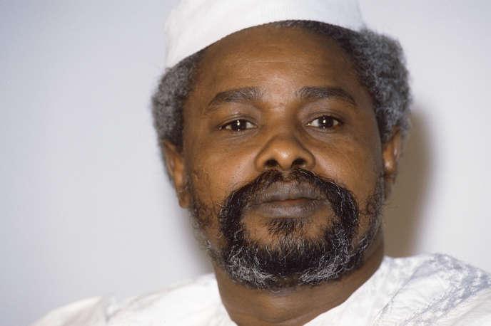 Hissène Habré en 1987, alors président du Tchad.