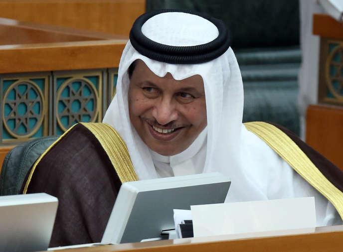 Le premier ministre du Koweït, Cheikh Jaber Al-Moubarak Al-Ahmad Al-Sabah, au Parlement, le1erjuillet.