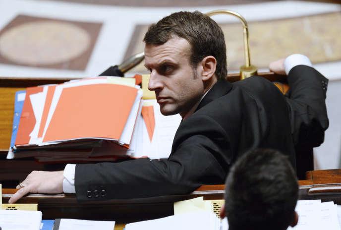 Le ministre de l'économie Emmanuel Macron à l'Assemblée nationale en février 2015.