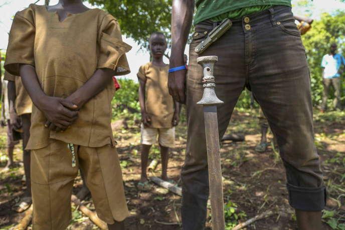 Ancien enfant-soldat anti-Balaka en République centrafricaine, le14mai2015.