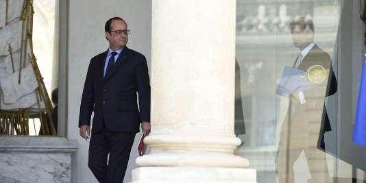 François Hollande, à l'Elysée, le 15juillet.