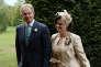 Tony et Cherie Blair au mariage de leur fils, Euan, à Wotton Underwood, en septembre 2013.