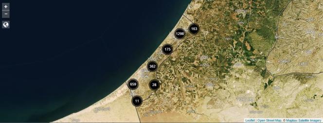 Capture d'écran du site The Gaza Platform.