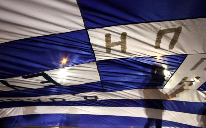 Manifestation contre la politique d'austérité, à Athènes, le 15 juillet.