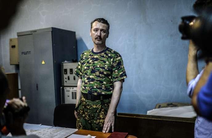 Igor Strelkov (ici en juillet 2014 à Donetsk) était le principal chef militaire des séparatistes prorusses en Ukraine lorsque l'avion des Malaysia Airlines a été abattu.