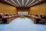 La table des négociations sur le nucléaire iranien à Vienne, le 14 juillet 2015.