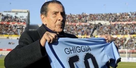 Alcides Edgardo Ghiggia, en 2008.