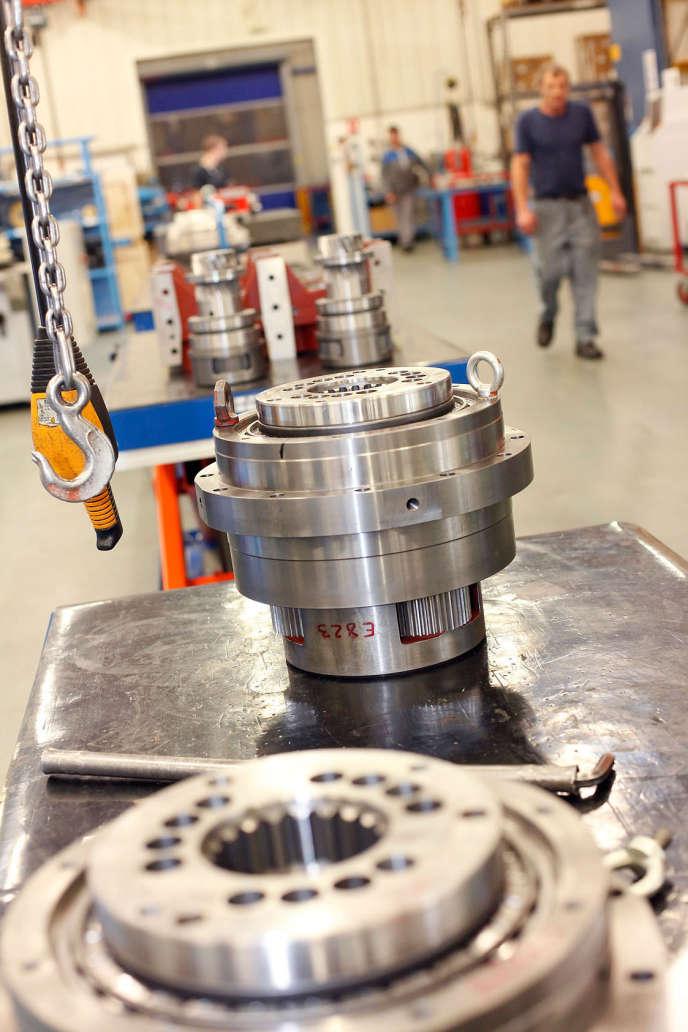 L'usine Redex, spécialiste des machines-outils, à Ferrières-en Gâtinais dans le Loiret.