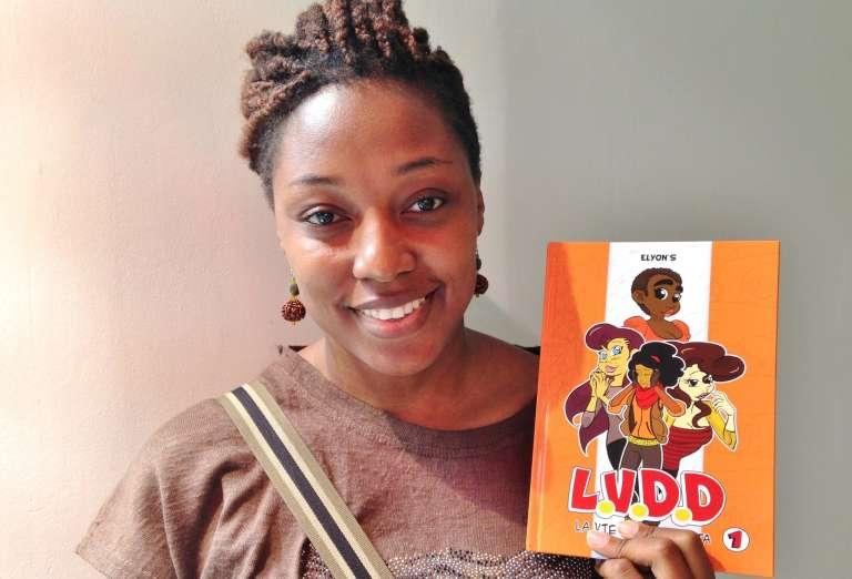 Joëlle Ebongue et sa BD « La Vie d'Ébène Duta »