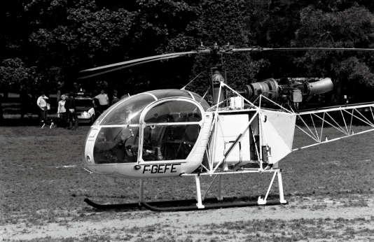 L'hélicoptère qui a, en 1986, récupéré Michel Vaujour sur le toit de la prison de la Santé et lui a permis de s'enfuir.