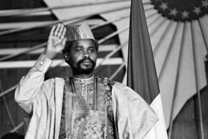 Hissène Habré, à N'Djamena, le 16 août 1983.
