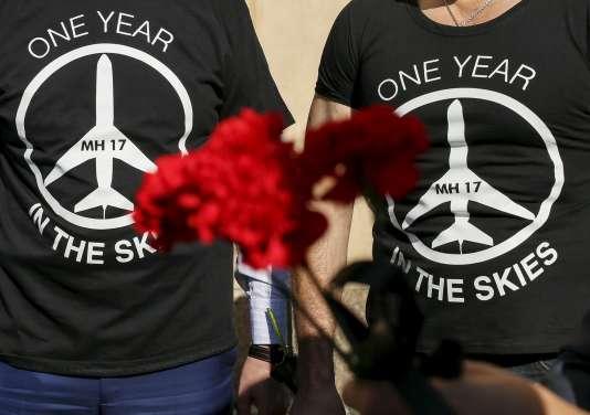 Le vol MH17 de Malaysia Airlines avait été abattu dans l'est de l'Ukraine le 17 juillet 2014, tuant ses 298 passagers et membres d'équipage, dont une majorité de passagers néerlandais.