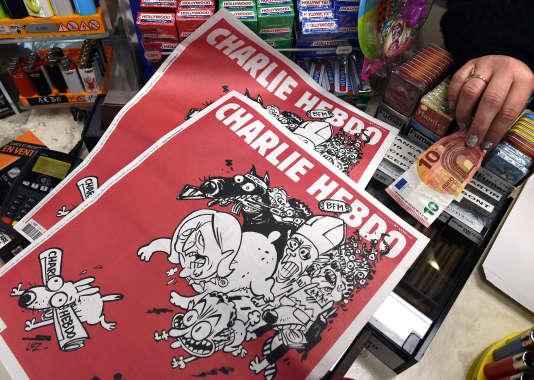 L'édition du 25 février de « Charlie Hebdo », seconde édition de l'hebdomadaire après l'attentat du 7 janvier.