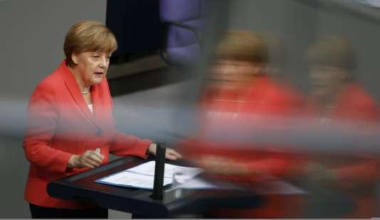 Angela Merkel devant les députés allemands vendredi 17 juillet.