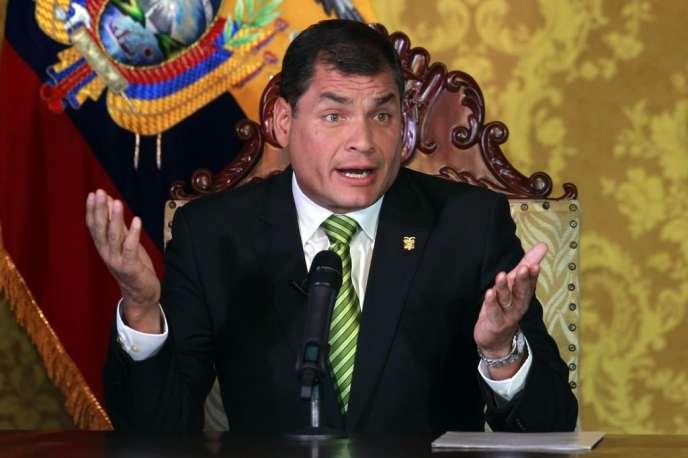 Rafael Correa, à Quito, le 15 août 2013.