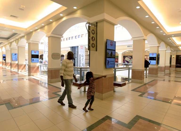 Dans le centre commercial de Westgate à Nairobi au Kenya le 18 juillet 2015.