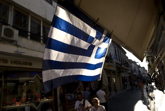 Dans le centre d'Athènes, le 19juillet.