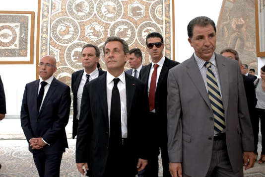 Nicolas Sarkozy au musée du Bardo, à Tunis, le 20 juillet.