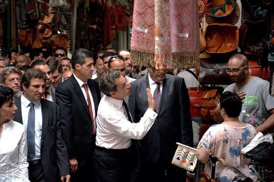 Nicolas Sarkozy à Tunis, le 20 juillet.