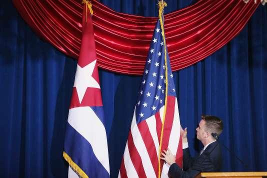 Lors de la cérémonie de réouverture de l'ambassade américaine de La Havane, en juillet dernier.