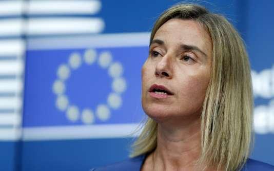 Federica Mogherini lors de la réunion des ministres des affaires étrangères européens le 20 juillet à Bruxelles.