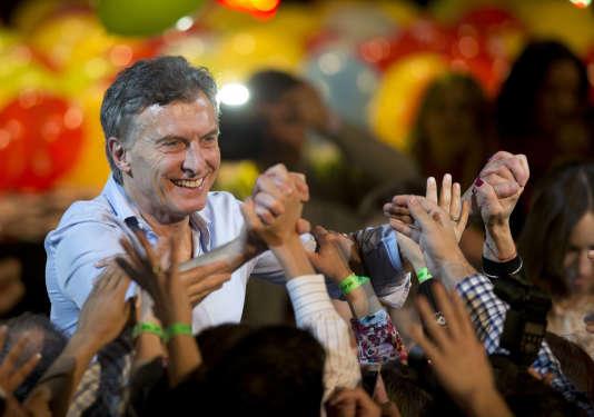 Mauricio Macri, candidat à la présidence de la République, à Buenos Aires, le 19 juillet.