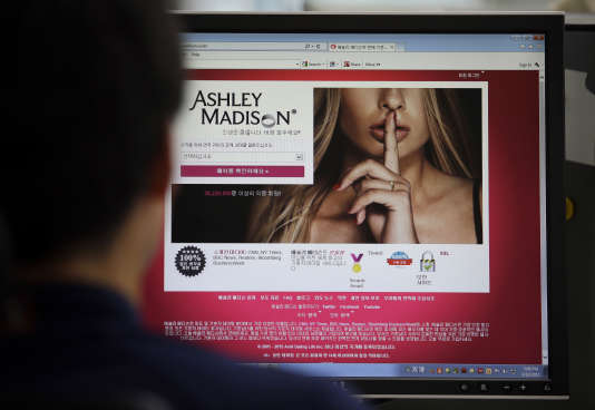 La page d'accueil d'Ashley Madison.