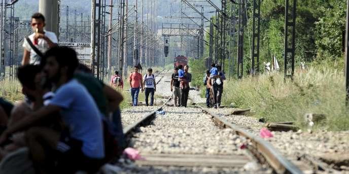 Des migrants en Grèce, le 20 juillet.