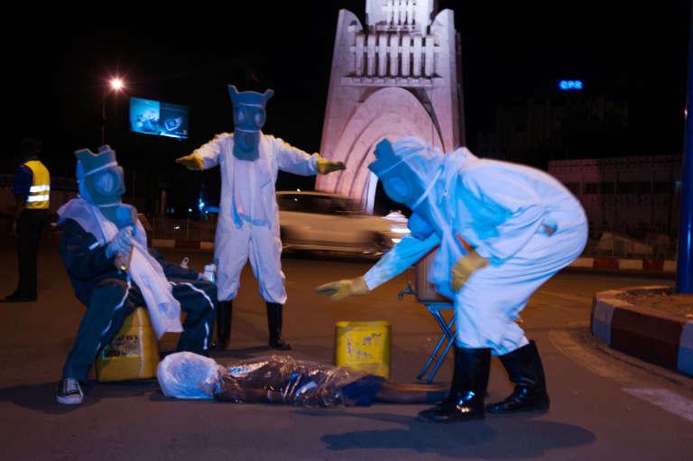 """Bakary Daou, """"Stop Ebola""""."""