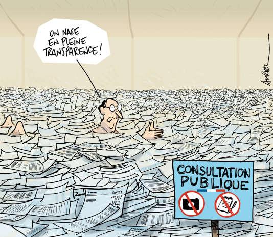"""Dessin de Aurel pour """"Le Monde"""""""