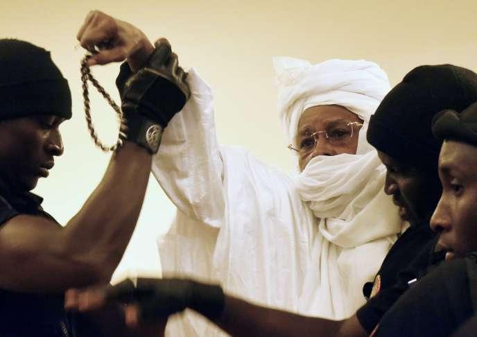 Le 20juillet à Dakar. L'ex-président tchadien est jugé pour crimes contre l'humanité, tortures et crimes de guerre.