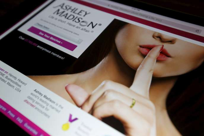 La page d'accueil du site Ashley Madison.