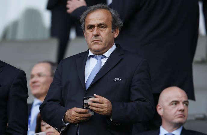 Michel Platini — ici le 30juin 2015 — est candidat à la présidence de la FIFA.