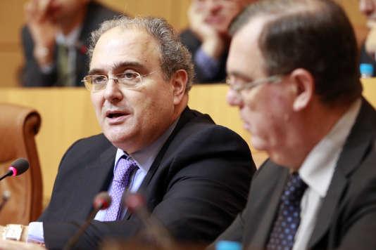 Paul Giacobbi, à l'Assemblée de Corse, à Ajaccio, en avril 2014.