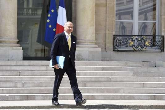 Laurent Fabius, le 15 juillet 2015, au palais de l'Elysée, à Paris.