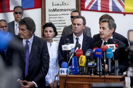 Nicolas Sarkozy devant le musée du Bardo, à Tunis,  le 20 juillet 2015.