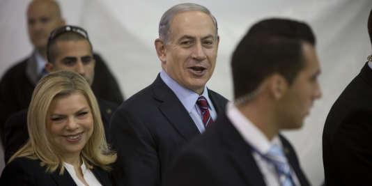 Le premier ministre israélien Benjamin Nétanyahou et son épouse Sara, le 31décembre 2014.