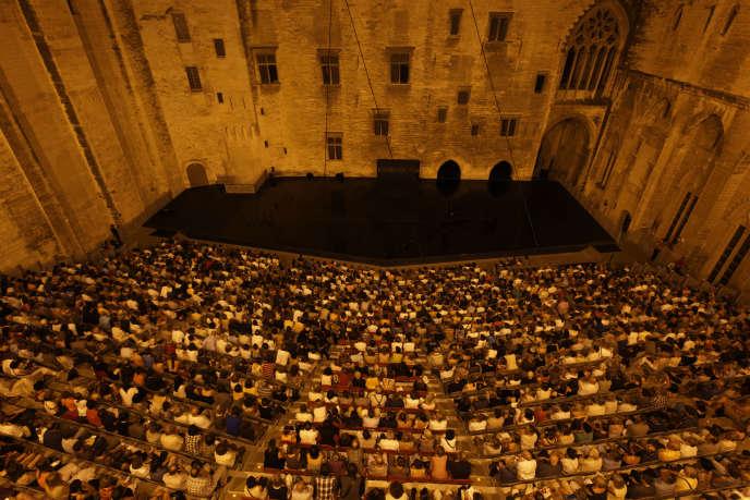 La Cour d'honneur du Palais des Papes, à Avignon, en juillet 2015.