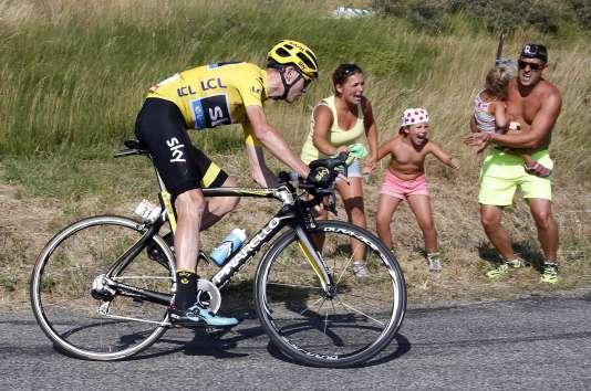 Chris Froome, le 20 juillet, lors de la seizième étape du Tour de France.