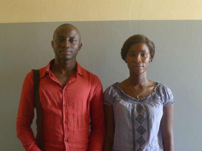 Adama Biteye, étudiante en droit et Saliou Dieng, président du collectif de l'Espace Numérique Ouvert (ENO) de Mbour.