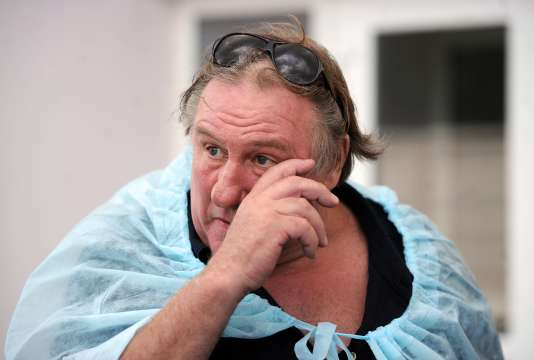 Les films de Gérard Depardieu, ici près de Minsk, le 22 juillet, ne pourront plus être diffusé par les télévisions et les cinémas ukrainiens.